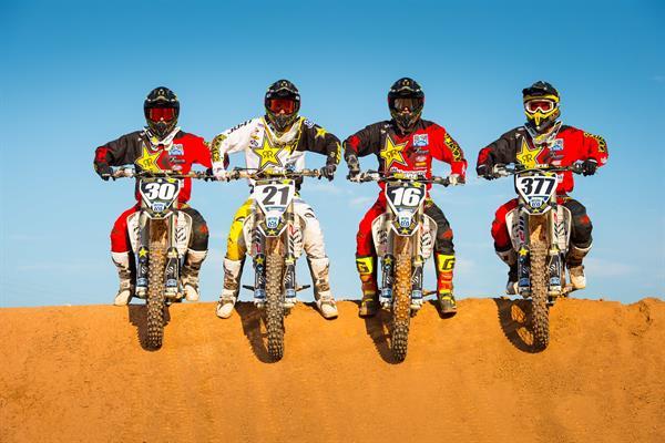 Martin Davalos, Jason Anderson, Zach Osborne & Christophe Pourcel Husvarna FC 250 FC450