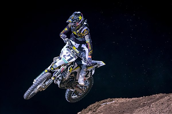 ROCKSTAR ENERGY HUSQVARNA FACTORY RACING'S JASON ANDERSON HAS PODIUM NIGHT IN LAS VEGAS